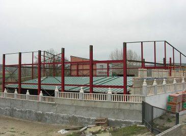 Elevación cubierta industrial