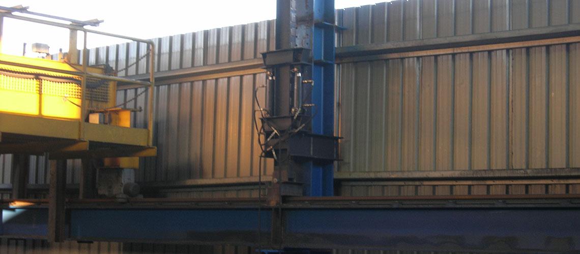 Elevación puente grúa con carrilera